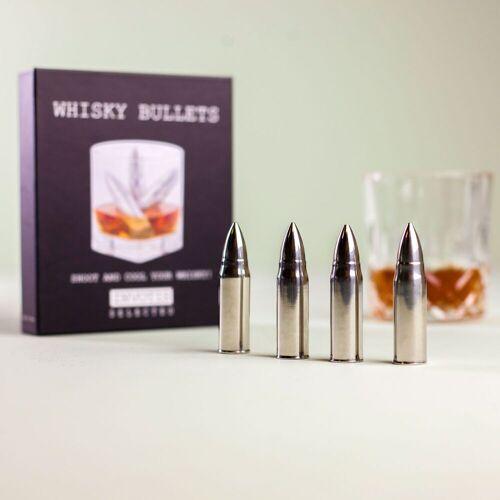 Invotis Whisky Bullets Ijskogels (set Van 4)