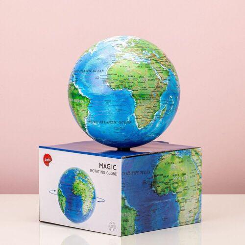 Balvi Magisch Draaiende Globe - Blauw