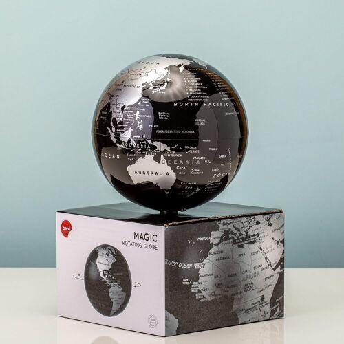 Balvi Magisch Draaiende Globe - Zwart