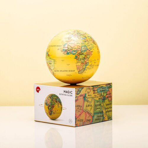 Balvi Magisch Draaiende Globe - Geel