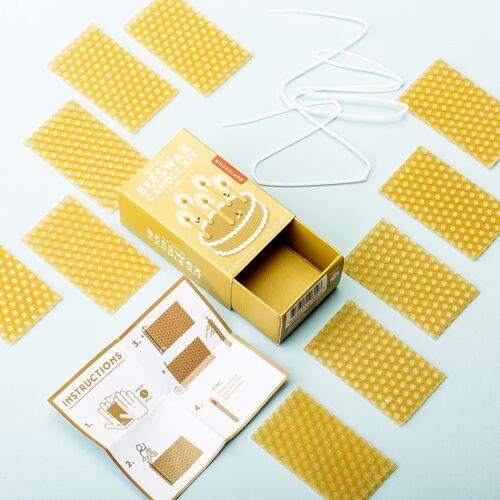 Kikkerland Bijenwas Kaarsen DIY Set - Neutraal