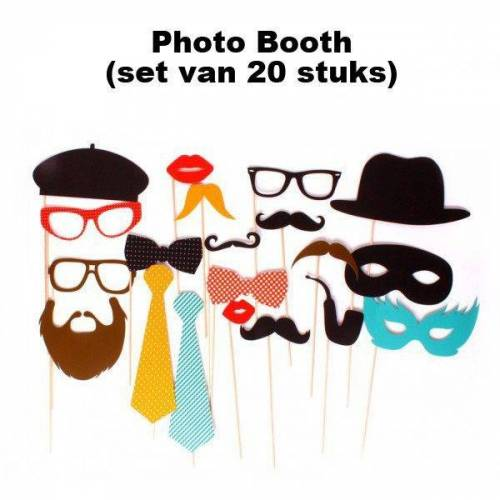 DOIY Fotoaccessoires - Photo Booth (Set Van 20)