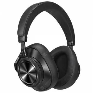 Bluedio T7 Plus Smart Bluetooth 5.0 Headphone Active Noise Canceling Headband AI Face Recognition Wireless Headset  - Black