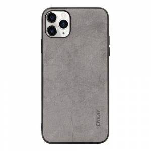 ENKAY ENK-PC029 Business Series TPU+PU Anti-fall Phone Cover Case for iPhone 11 Pro  - Gray