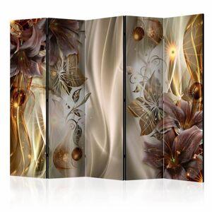 Karo-art Vouwscherm - Amber Land 225x172cm  - Size: 225x172cm