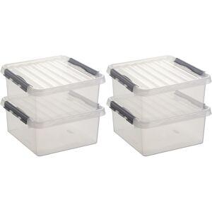 Sunware 12x Opberg boxen/opbergdozen 18 liter 40 x 40 x 20 cm kunststof