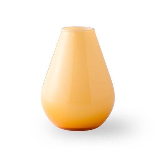 Wik & Walsøe Falla glazen vaas 10 cm Geel-wit