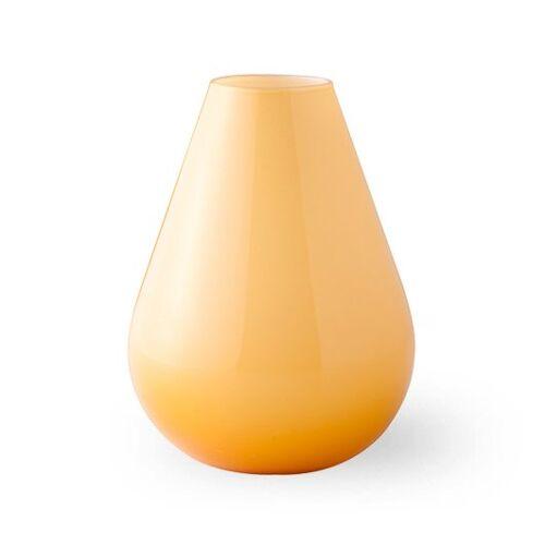 Wik & Walsøe Falla glazen vaas 15 cm Geel-wit