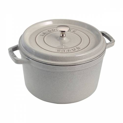 Staub ronde braadpan hoog model 4,8 L White Truffle