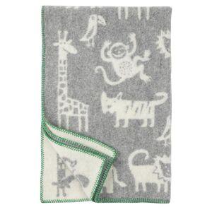 Klippan Yllefabrik Jungle wollen deken grijs