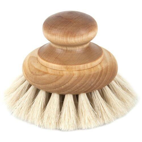 Iris hantverk badborstel met knop berkenhout