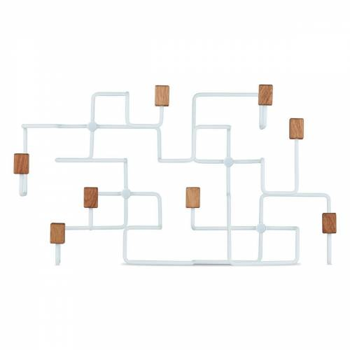 Gejst Underground klerenhanger Wit-eikenhout