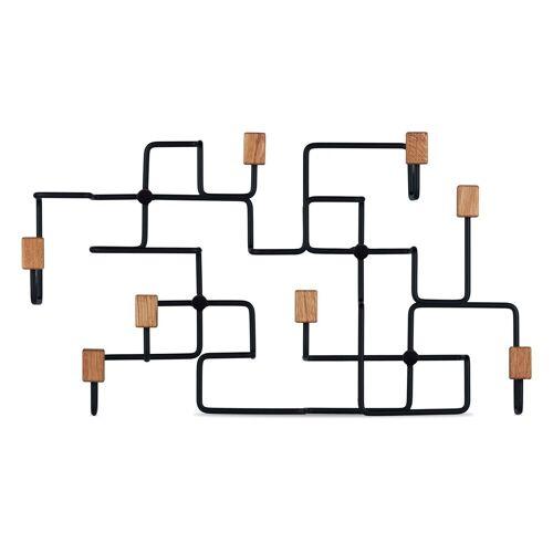 Gejst Underground klerenhanger Zwart-eikenhout
