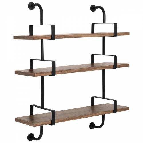 Gubi Démon plank 3 verdiepingen 95 cm Walnut