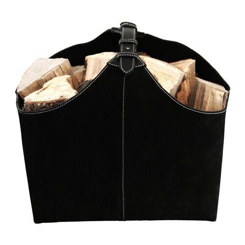Ørskov brandhout-houder suede zwart