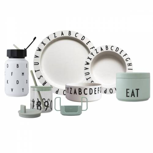 Design Letters Eat & Learn Premium cadeauset Groen-wit
