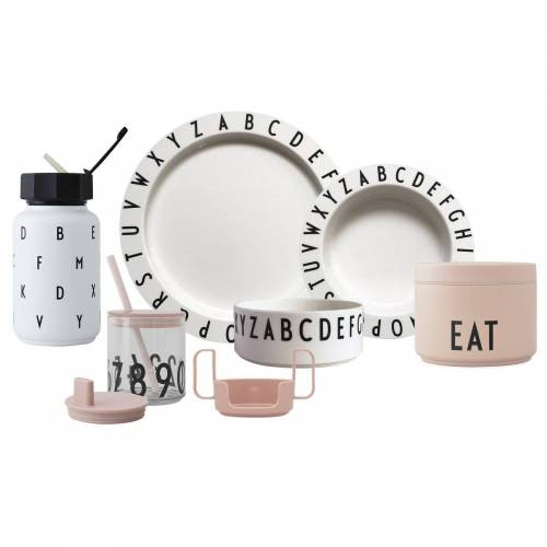 Design Letters Eat & Learn Premium cadeauset Nude-wit