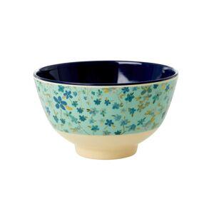 Rice melaminekom small Blue floral