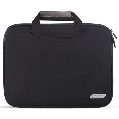 Voor 11 inch / 12 inch Laptops Duiken Stof Laptop Handtas (Zwart)