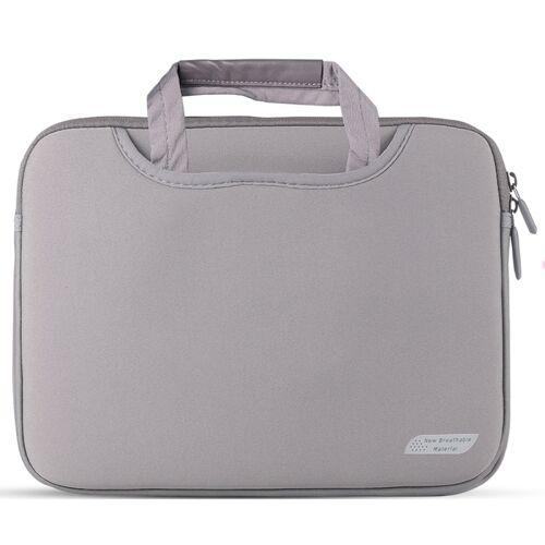 Voor 11 inch / 12 inch Laptops Duiken Stof Laptop Handtas (Grijs)