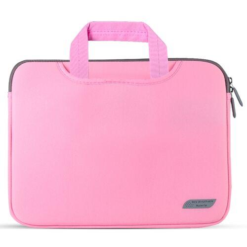 Voor 15 inch laptops duiken stof laptop handtas (roze)