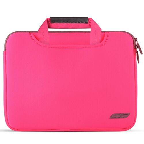 Voor 15 inch Laptops Duiken Stof Laptop Handtas (Rood)