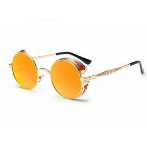 Retro gesneden ronde zonnebril