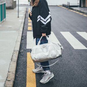 Zachte nylon doek schoudertas sport Gym reizen handtas (zilver)