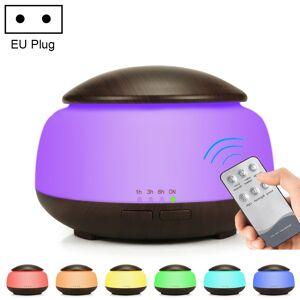 Houtnerf luchtbevochtiger Luchtreiniger ultrasone verstuiving huishoudelijke aromatherapie machine met kleurrijke LED-licht plug specificatie: EU plug (Dark Brown)