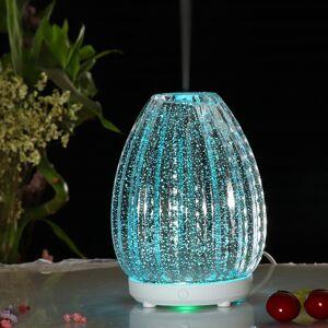 100ml creatieve vaas vorm aromatherapie machine 3D glas luchtbevochtiger met kleurrijke LED lamp