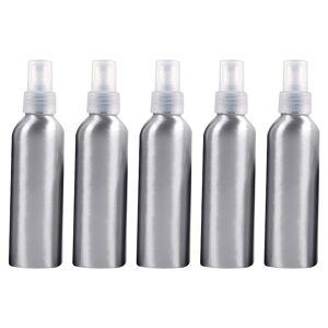 5 stuks hervulbare glas fijne mist verstuivers aluminium fles 150ml (transparant)