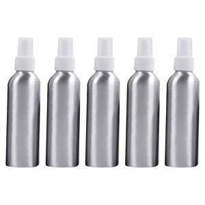5 STKS hervulbare glas fijne mist verstuivers aluminium fles 150ml (wit)