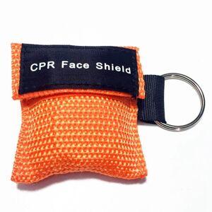 CPR Emergency face Shield masker sleutel ring ademhaling masker (oranje)