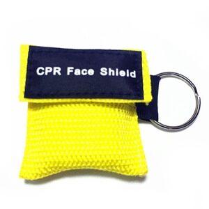 CPR Emergency face Shield masker sleutel ring ademhaling masker (geel)