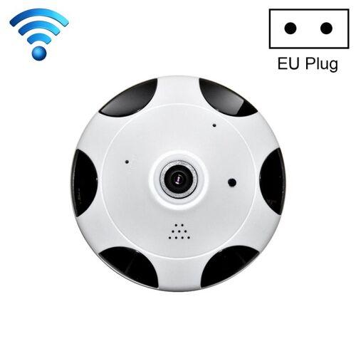 360 graden bekijken VR camera WiFi IP camera support TF Card (128GB Max) EU plug (wit)