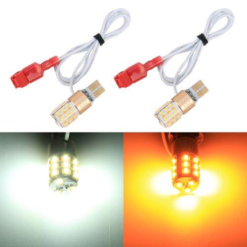 2 PCS T10 DC12V/2.2 W/6000K/160LM auto auto draai lichten/lopende lichten (draai: geel licht; Running: wit licht)