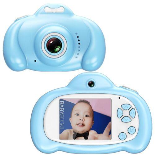 16 0 mega pixel dual-camera 2 0 inch scherm cartoon HD digitale SLR camera voor kinderen (blauw)