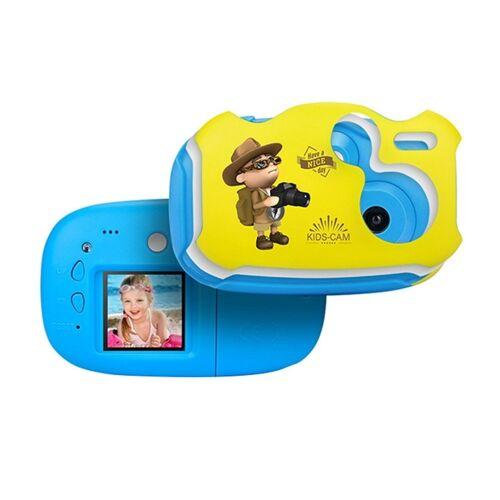 2 0 mega pixel 1 44 inch HD scherm Creative DIY Mini digitale camera voor kinderen (blauw)