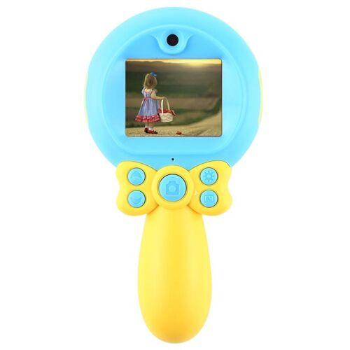 8 0 mega pixel dual-camera toverstaf digitale SLR camera voor kinderen met flitslicht (blauw)