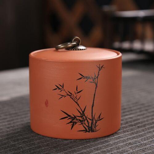 Keramische Redware thee pot opslag verzegeld thee tank (bamboe)