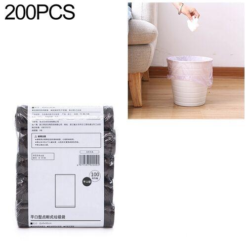 2 PCS Keuken toilet huishouden platte mond Point-break Plastic Bag Vuilniszak Gewicht: 185g (Zwart)