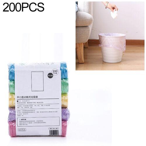 2 PCS Keuken toilet huishouden platte mond Point-break Plastic Bag Vuilniszak Gewicht: 185g (Kleur)