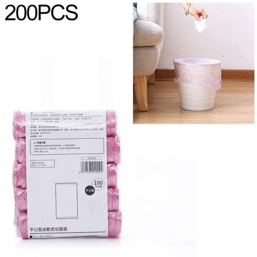 2 PCS Keuken toilet huishouden platte mond Point-break Plastic Bag Vuilniszak Gewicht: 185g (Roze)