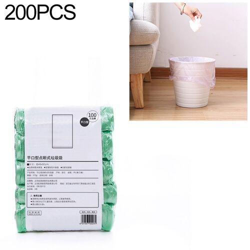 2 PCS Keuken toilet huishouden platte mond Point-break Plastic Bag Vuilniszak Gewicht: 185g (Groen)