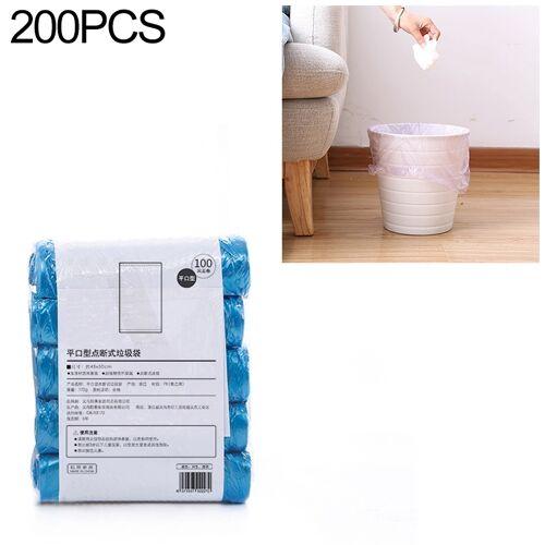 2 PCS Keuken toilet huishouden platte mond Point-break Plastic Bag Vuilniszak Gewicht: 185g (Blauw)