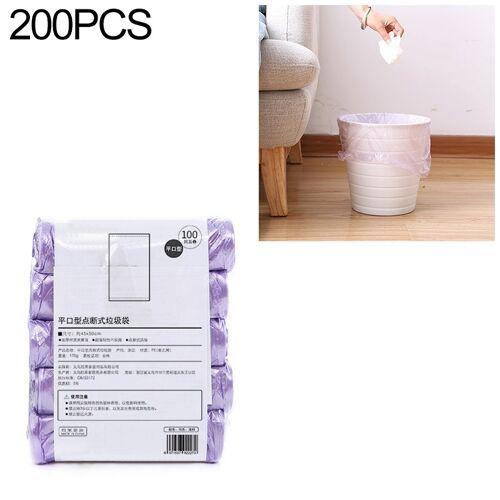 2 PCS Keuken toilet huishouden platte mond Point-break Plastic Bag Vuilniszak Gewicht: 185g (Paars)