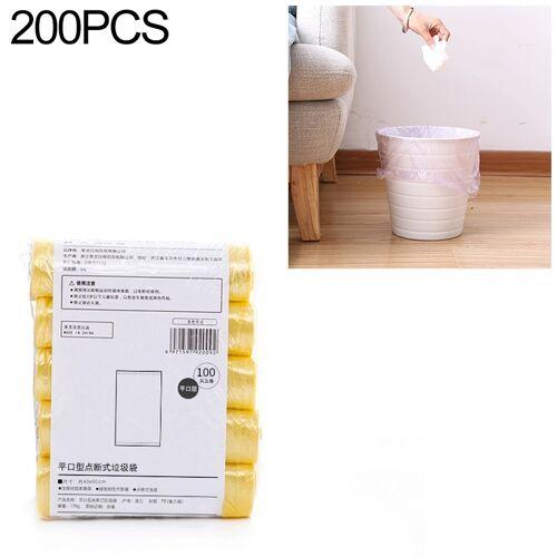 2 PCS Keuken toilet huishouden platte mond Point-break Plastic Bag Vuilniszak Gewicht: 185g (Geel)