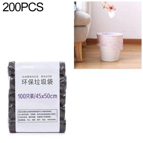 2 PCS Keuken toilet huishouden platte mond Point-break Plastic Bag Vuilniszak Gewicht: 160g (Zwart)