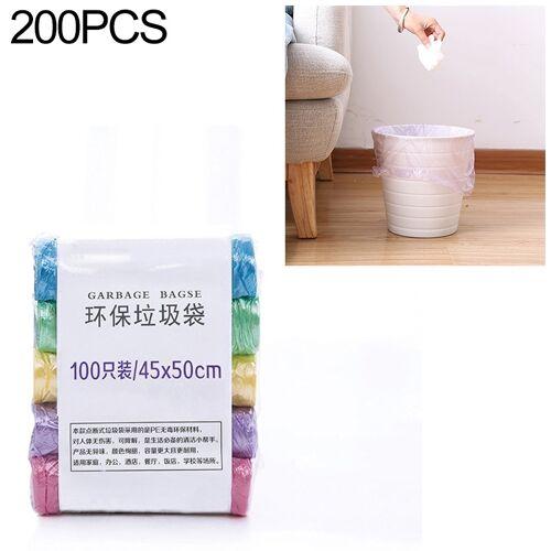 2 PCS Keuken toilet huishouden platte mond Point-break Plastic Bag Vuilniszak Gewicht: 160g (Kleur)