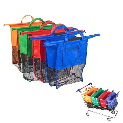 Supermarkt Trolly tassen Non-Woven boodschappentassen draagbare 4 zakken / Set